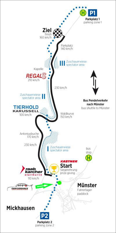Streckenplan Mickhausen